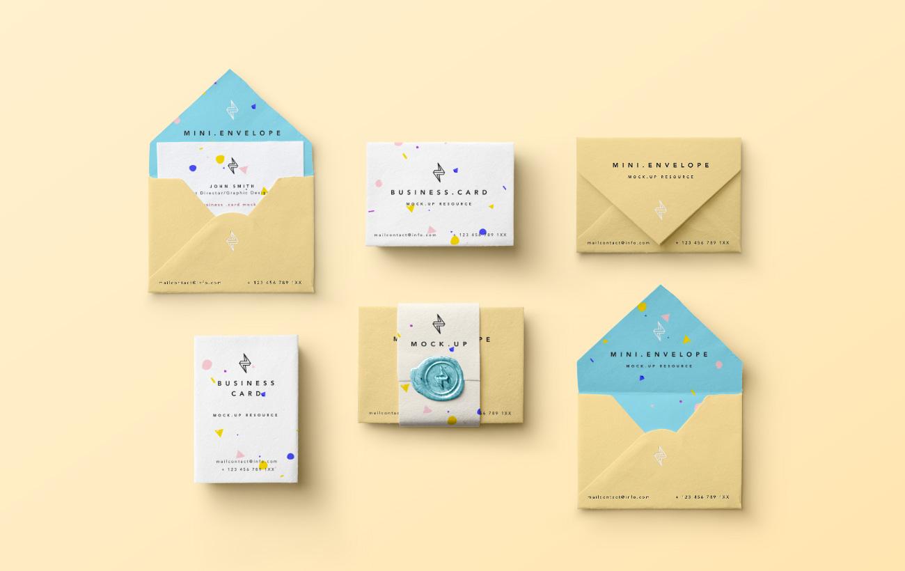 Mini-Envelopes-Businesscard-Mockup