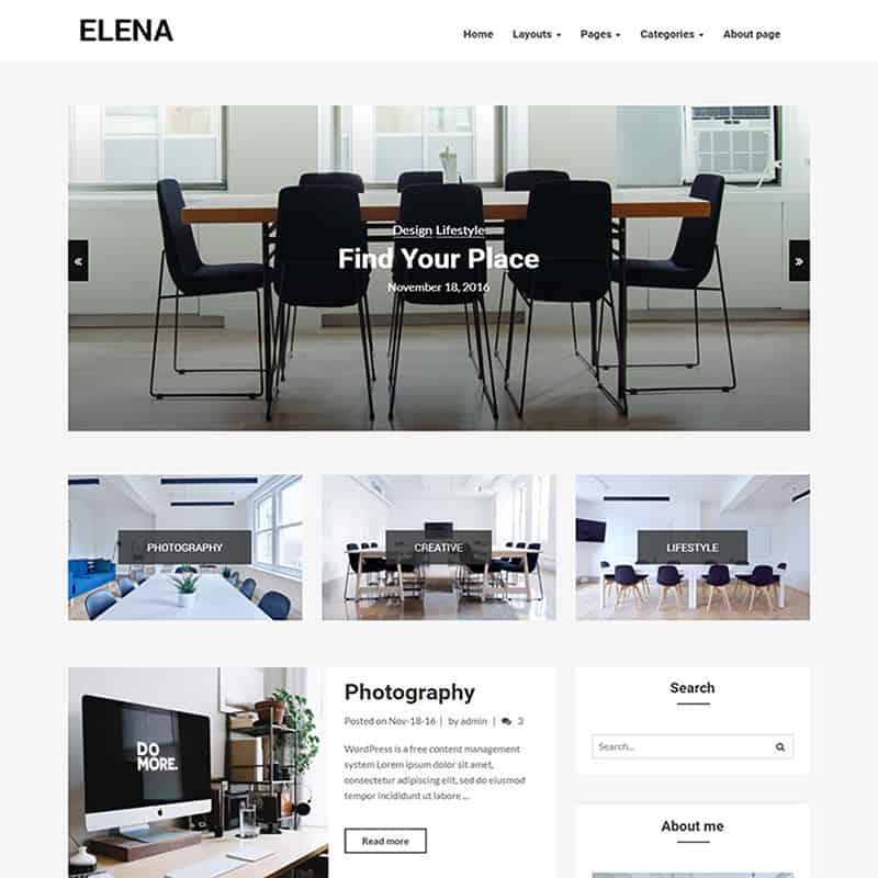 Elena - Responsive Blog WP Theme