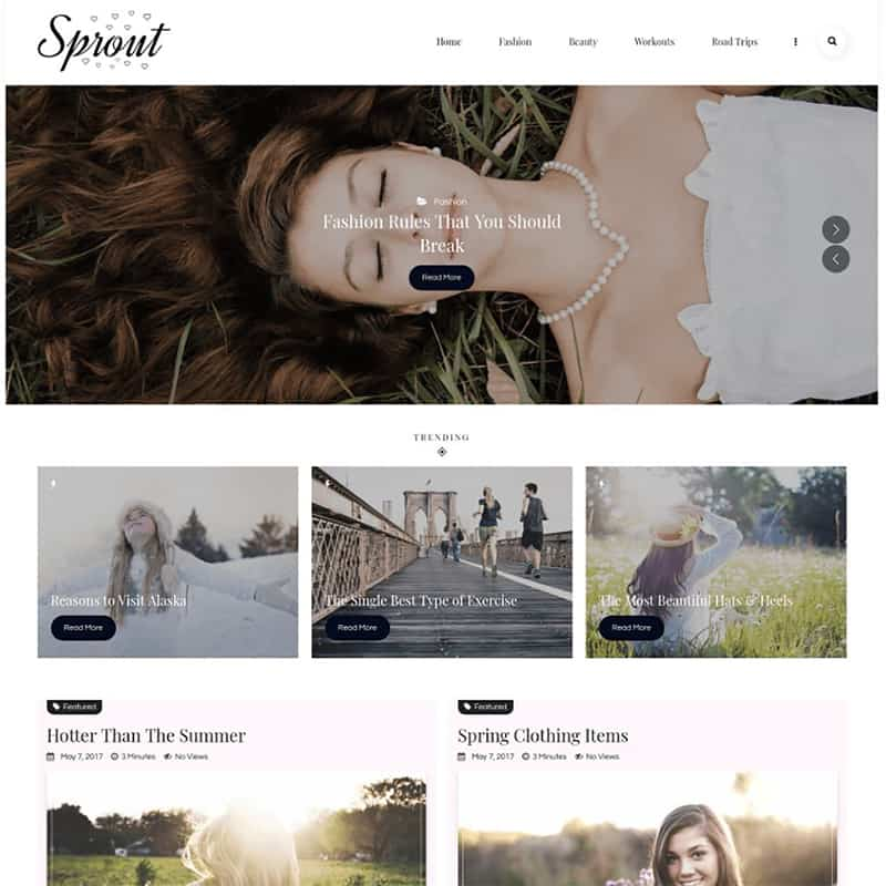 Sprout - Personal Blog WP Theme