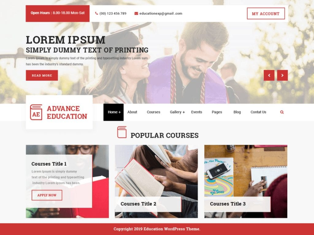 Advance Education is a fresh, engaging, visually appealing and elegant education WordPress theme