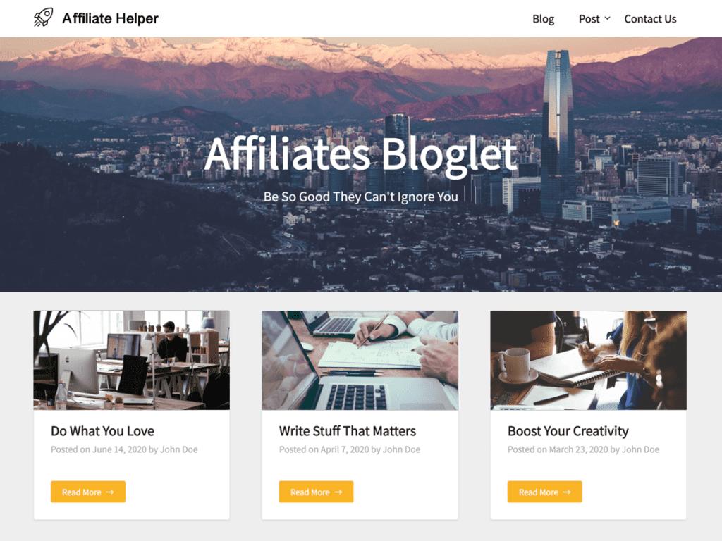 Affiliates Bloglet