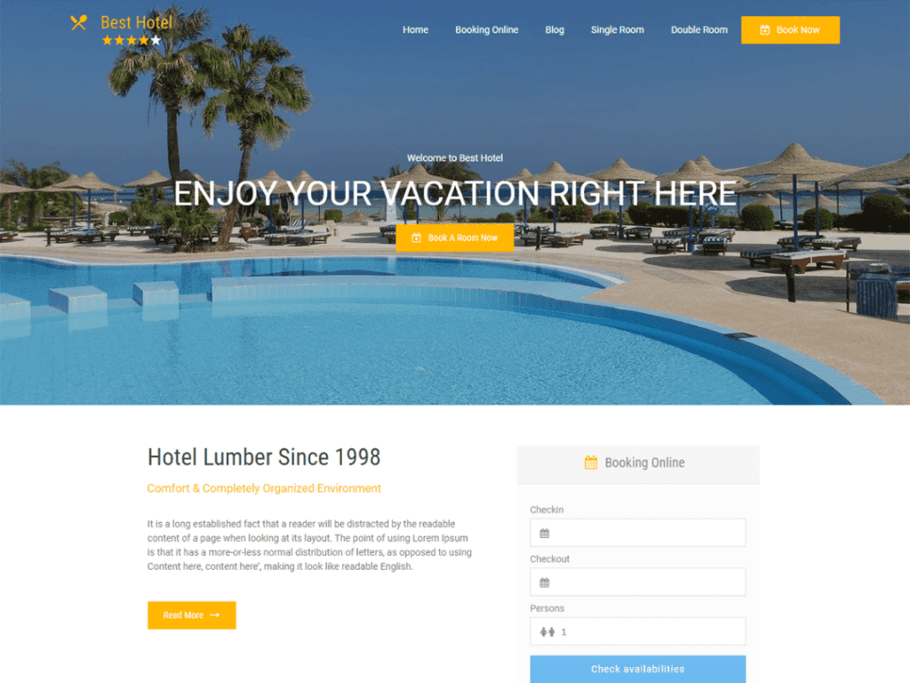 12 Best Free Hotel WordPress Themes (Most Popular 2021)