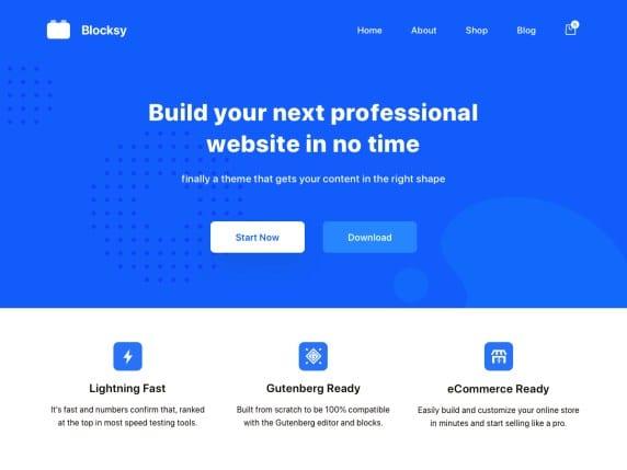 blocksy very simple theme