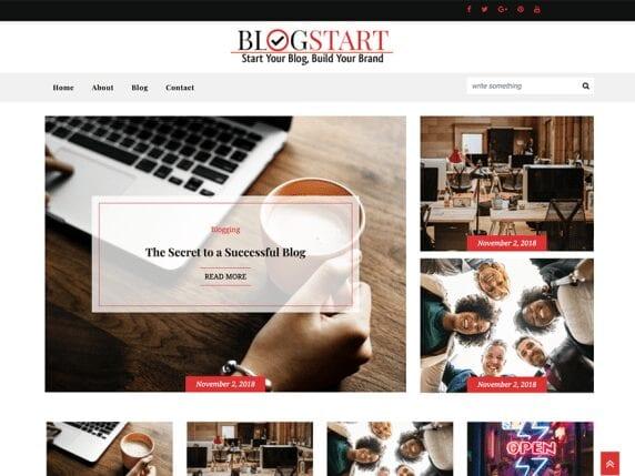 blog start free theme for bloggers