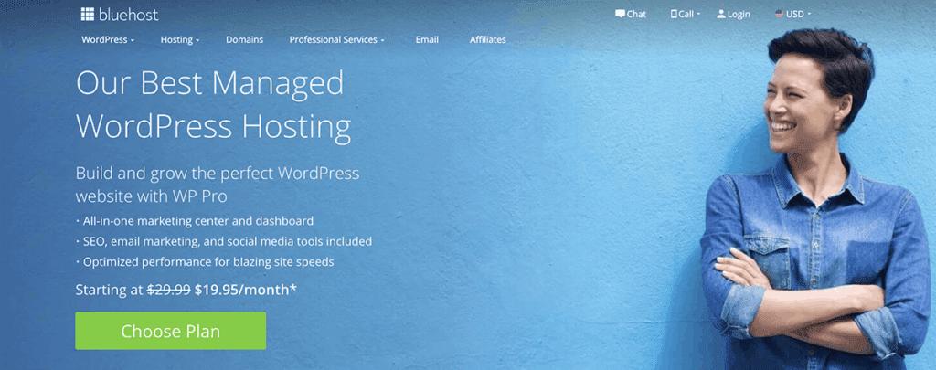 Bluehost Managed WP Hosting