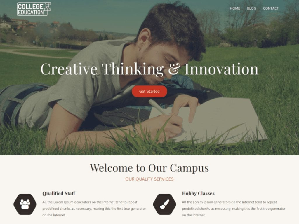 College Education is an impressive and professional WordPress theme suitable for Schools, Colleges, Coaching classes, Kindergartens, Universities, Academies, Training Centers