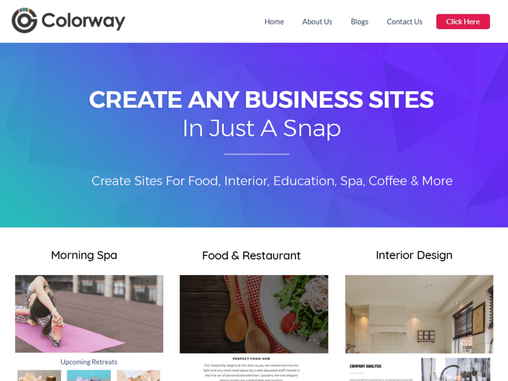 colorway business theme