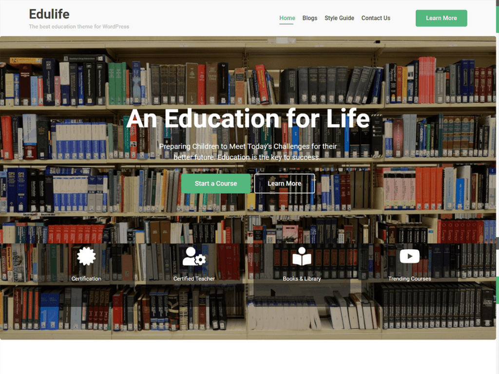 Edulife learndash free theme