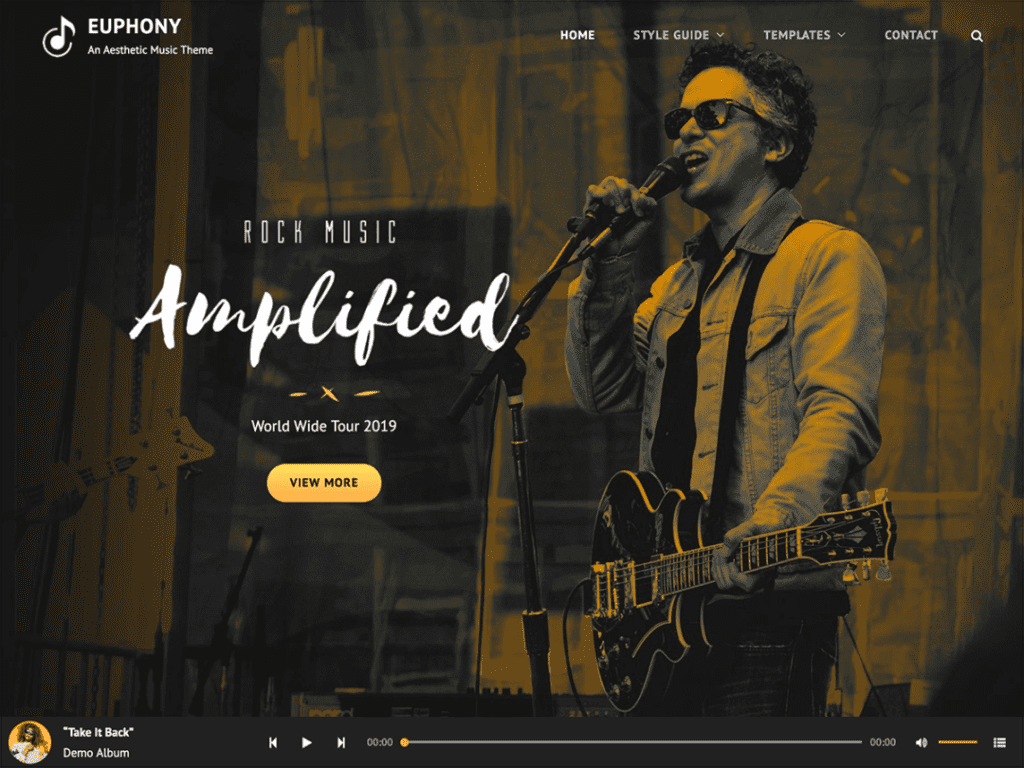 euphony free theme for musical artists