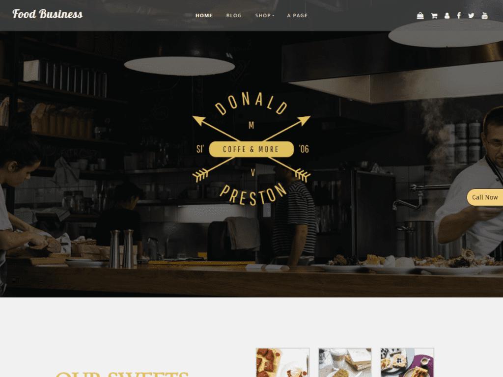 Food Business free theme