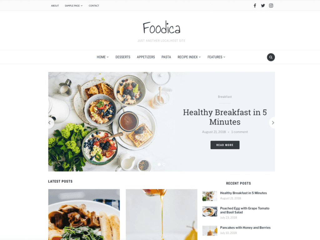 21 Best Free Food Blog WordPress Themes (Most Popular 2021)