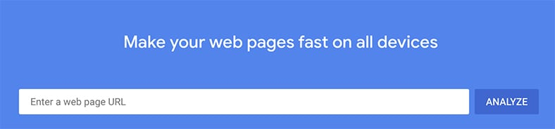 Google PageSpeed Insights test to see if you pass