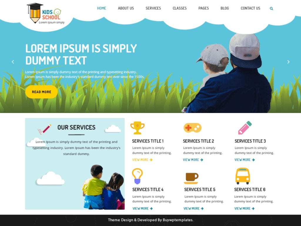 The Kindergarten Education is a beautiful and minimal kids school theme