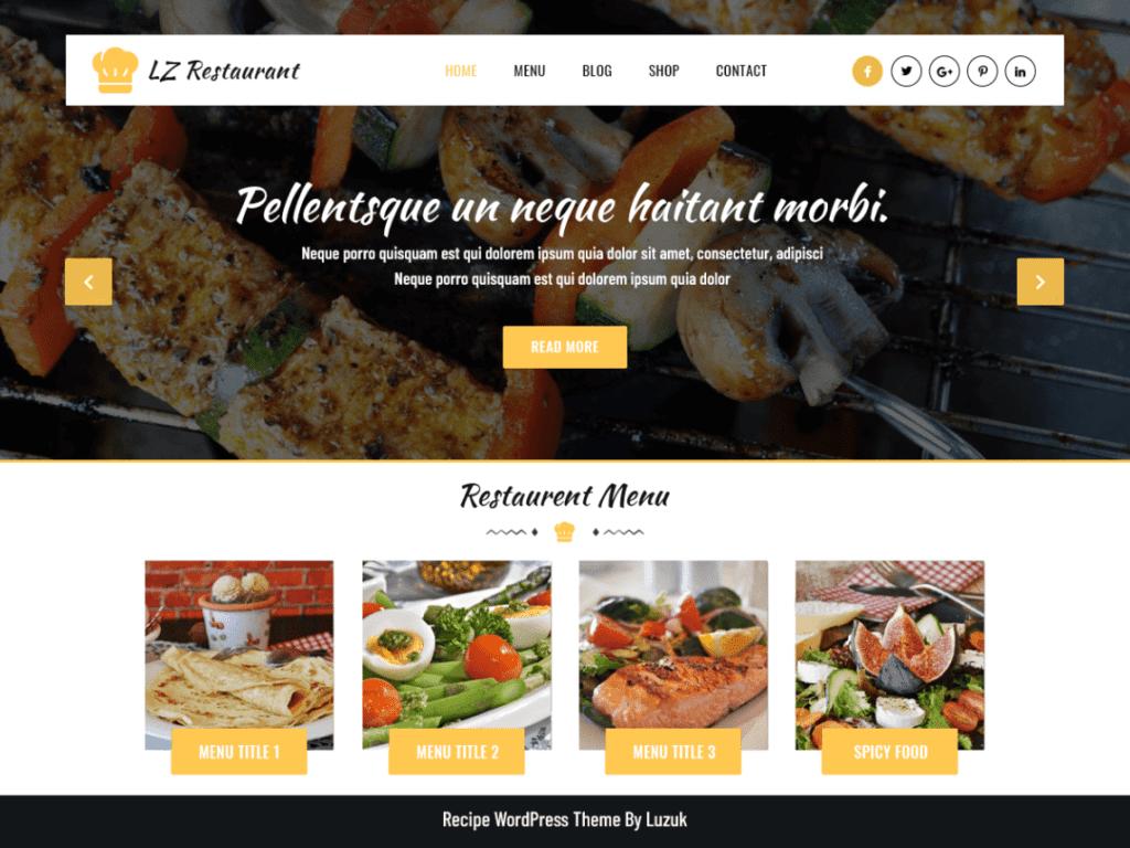LZ Food Recipee theme
