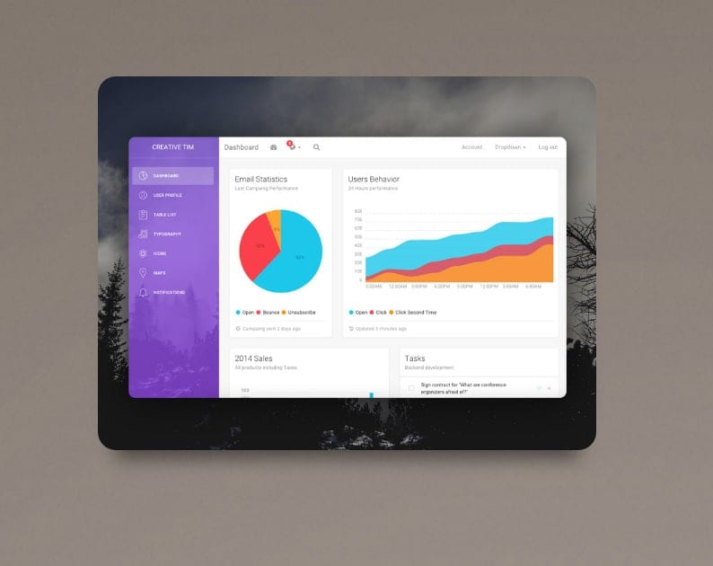 Free Material Kit UI Bootstrap Themes & Templates - Dessign