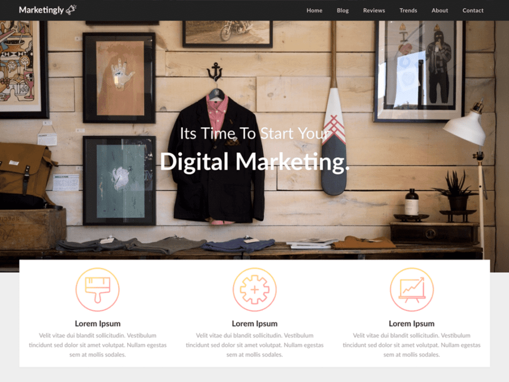 Marketingly free WordPress theme
