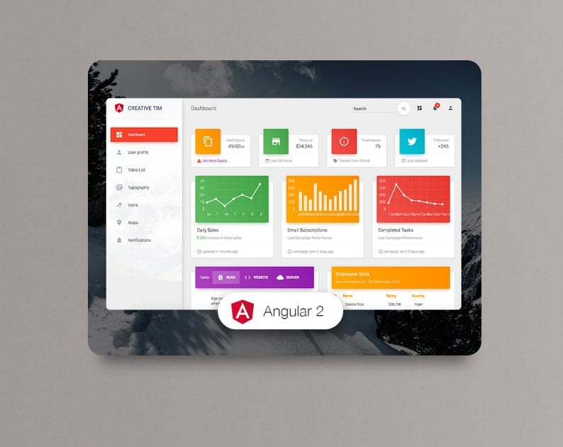 Free Material Kit UI Bootstrap Themes & Templates - Dessign Themes