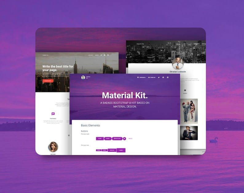 Free material kit ui bootstrap themes templates dessign themes below you find all free material kit bootstrap free bootstrap templates maxwellsz