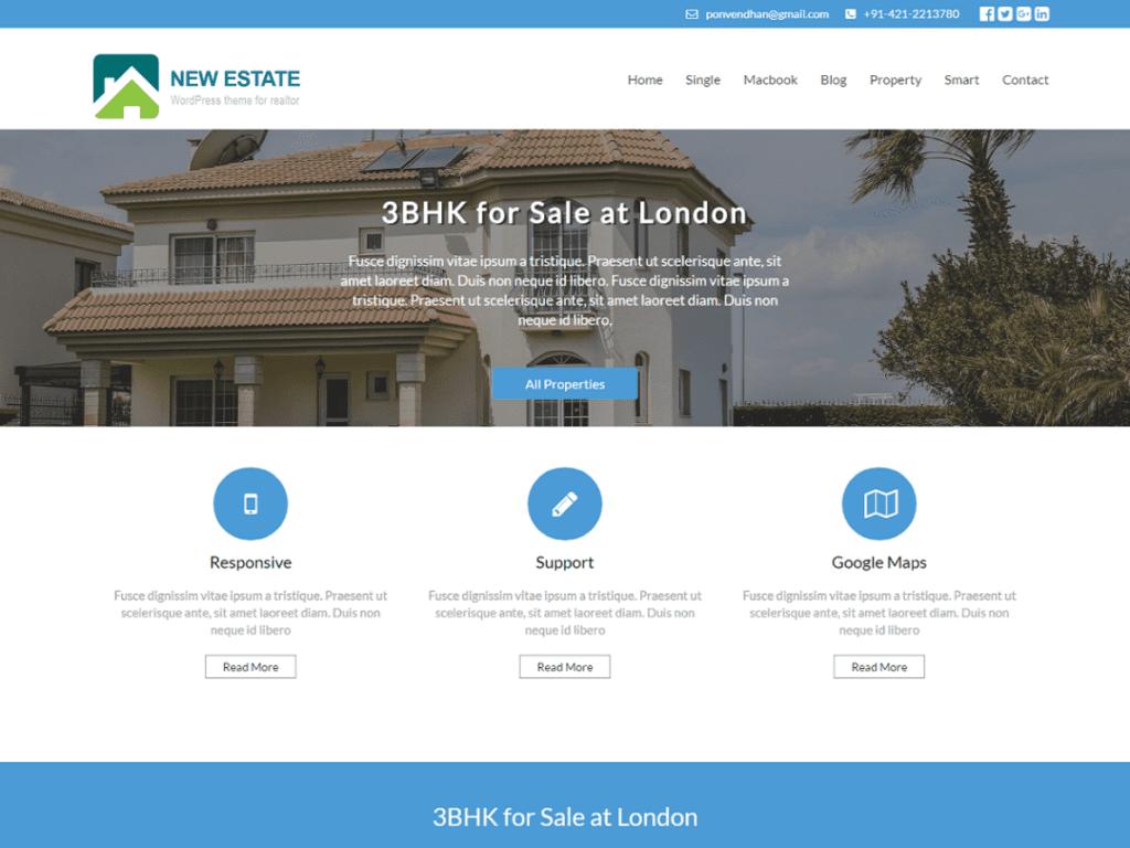 New Estate free wordpress theme