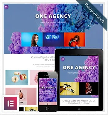 One Agency Elementor Template