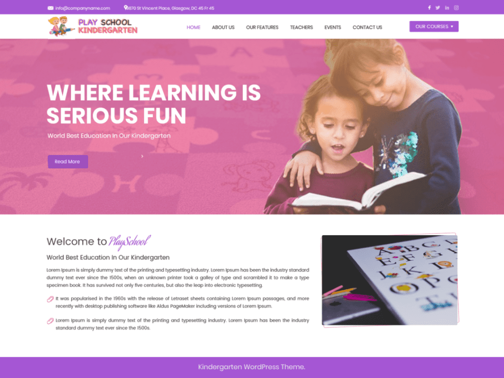 Play School Kindergarten theme