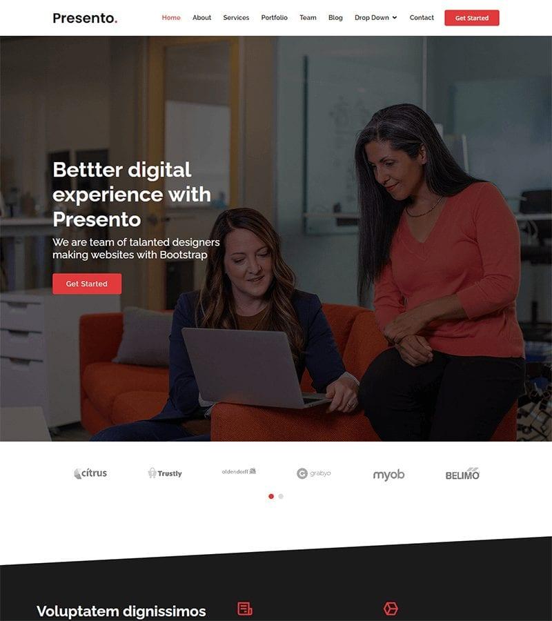 presto Bootstrap Corporate Template
