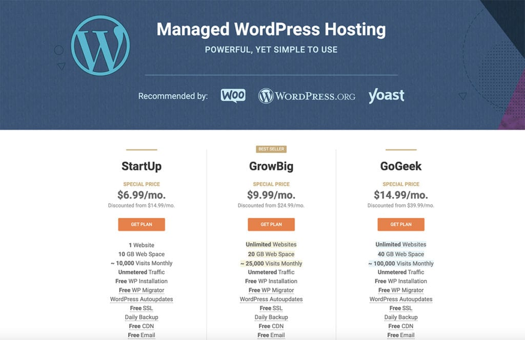 Managed WordPress Hosting Plan 2020