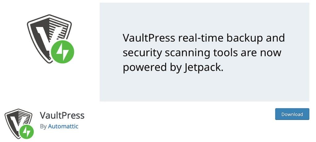 Vaultpress security scan