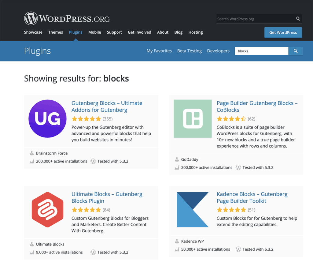 WordPress Gutenberg Blocks Plugins 2020