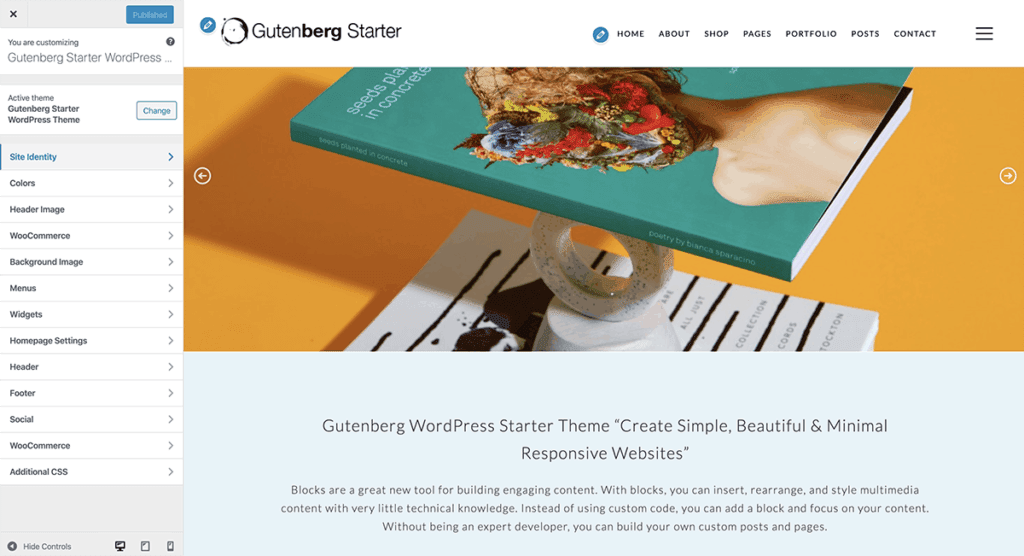 WordPress Gutenberg Customize Options 2020