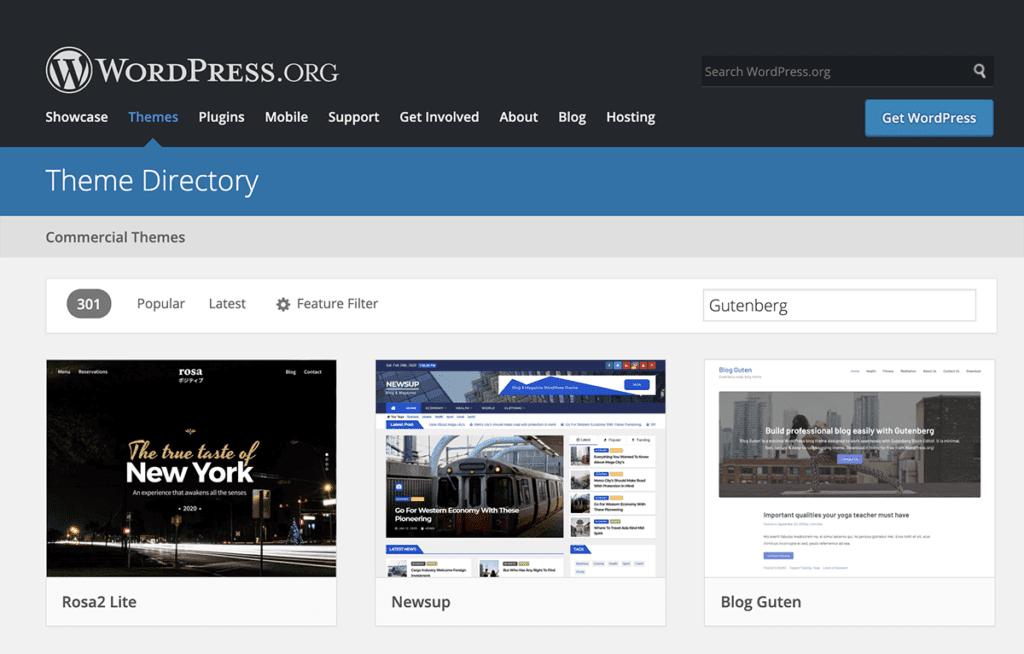 WordPress Gutenberg Compatible Themes