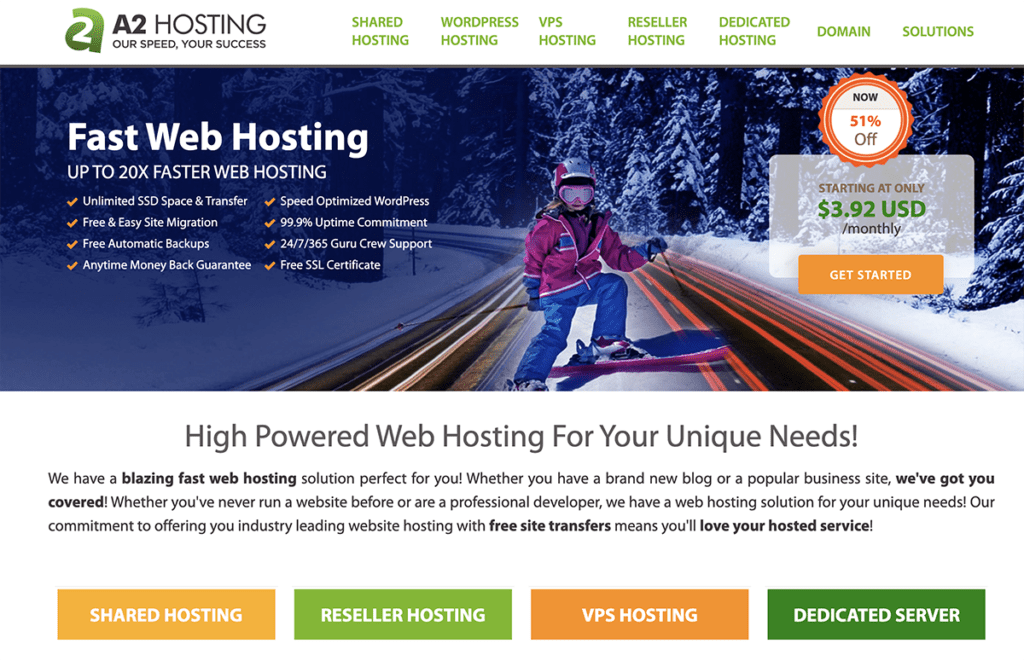 A2 Cheap WordPress Hosting 2020
