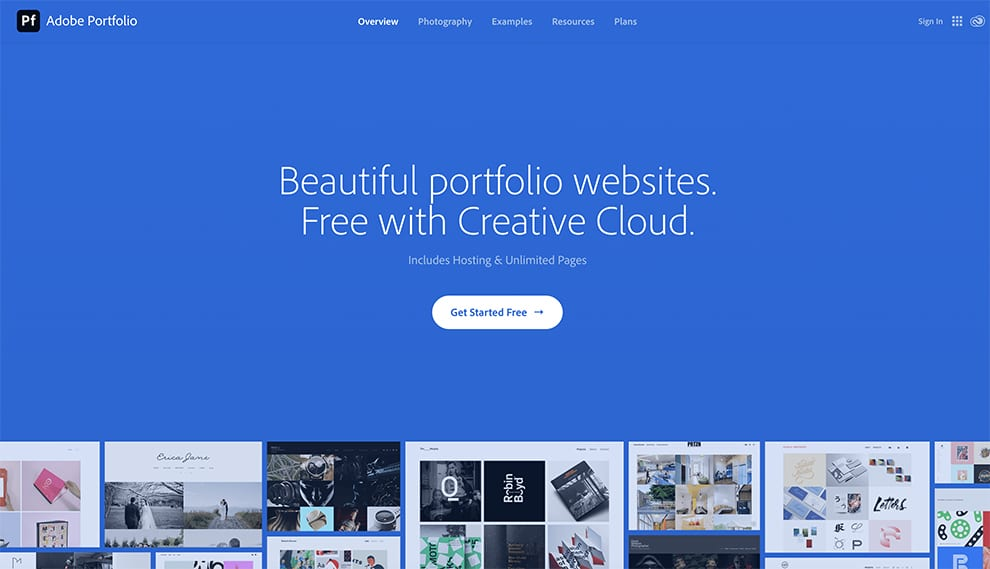 Adobe portfolio online