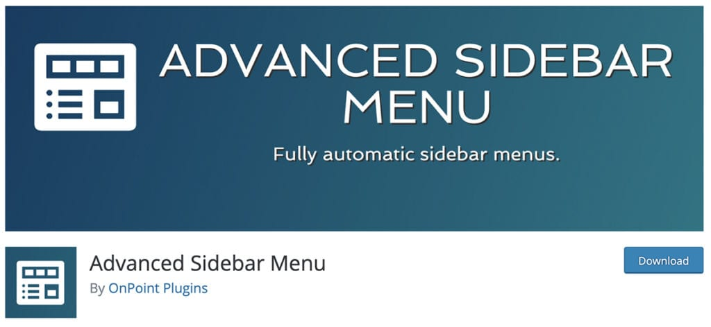 Advanced Sidebar Menu