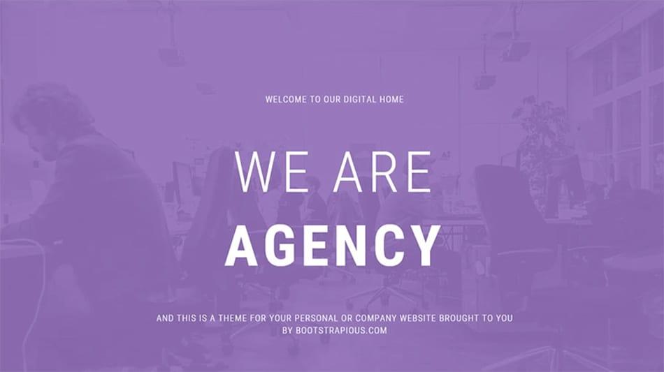 modèle d'agence gratuit