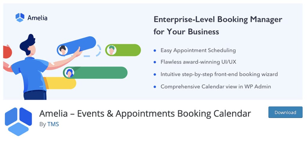 Amelia – Events & Appointments Booking Calendar