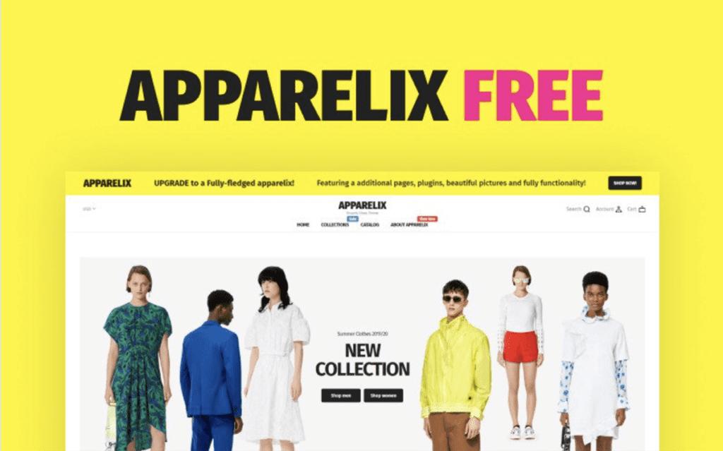 Apparelix Shopify theme free