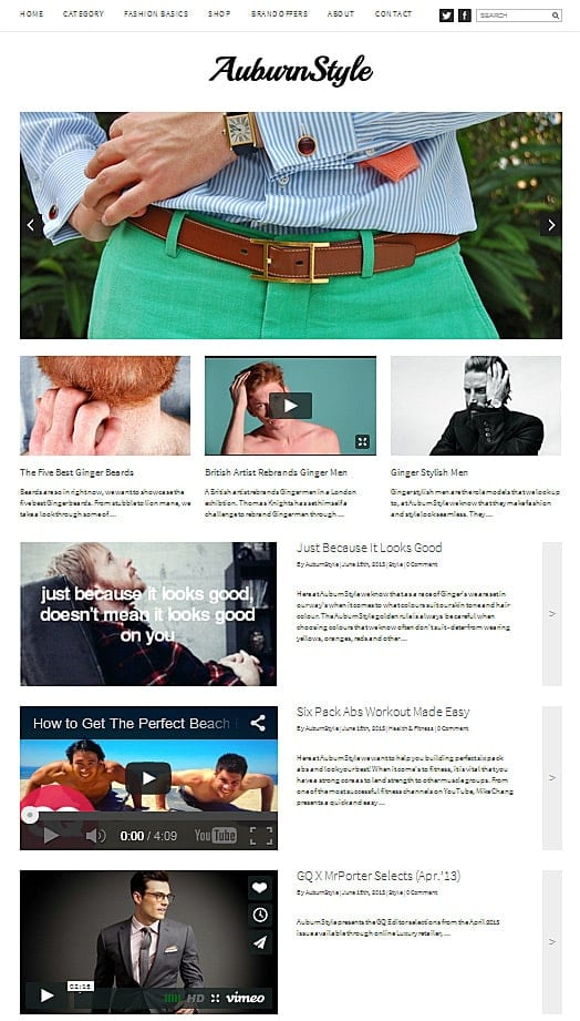 www.auburnstyle.co.uk - Best WordPress Themes for Creatives ...