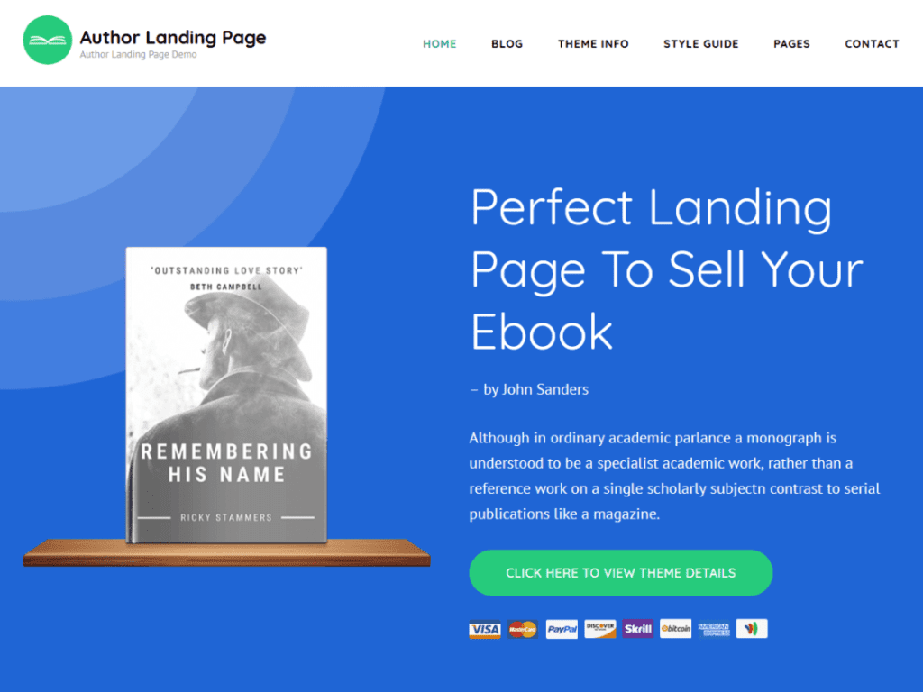 Author Landing Page