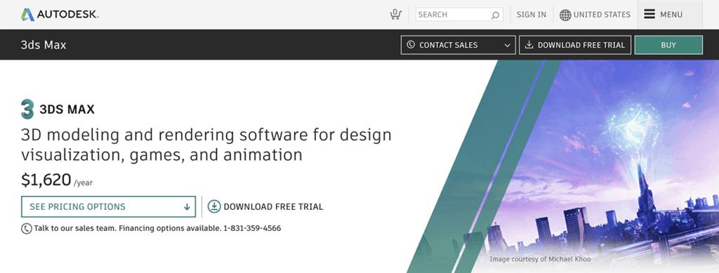 3d Studio Max Best animation Software