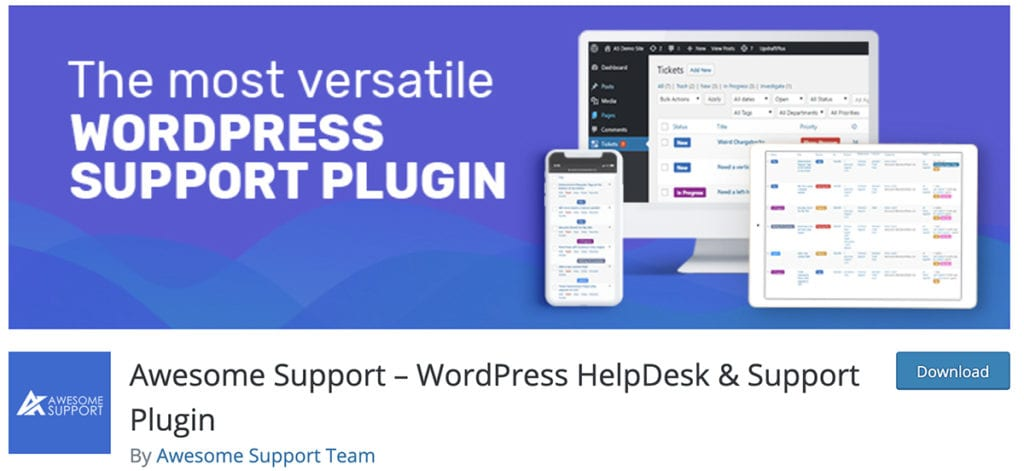 Support génial - Plugin d'aide et de support WordPress