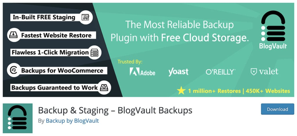 Backup & Staging – BlogVault Backups