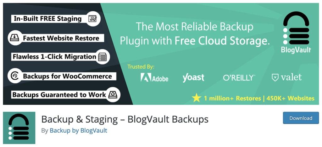 Backup & Staging – BlogVault Backups