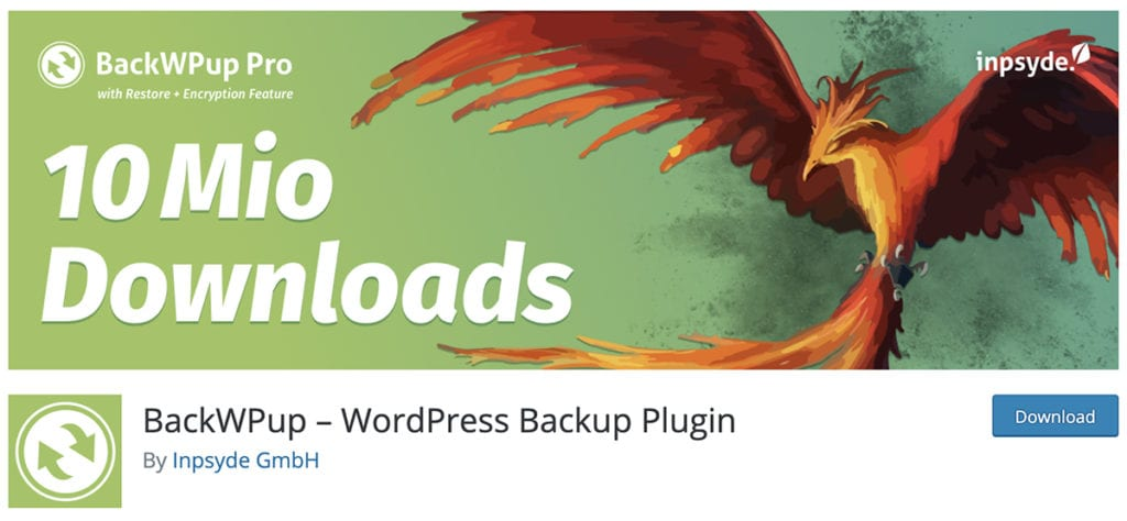 BackWPup – WordPress Backup Plugin