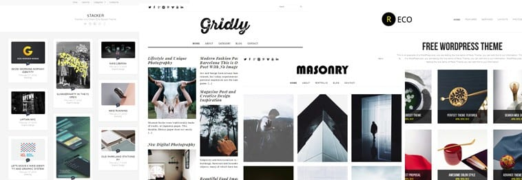 30+ Best Free Grid, Masonry & Pinterest Style WordPress Themes 2018