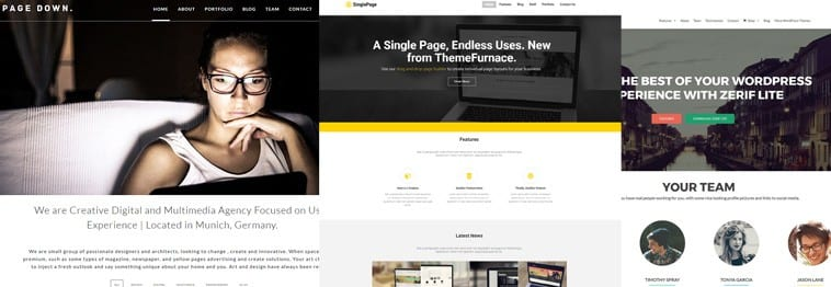 15+ Best One Page WordPress Themes 2019