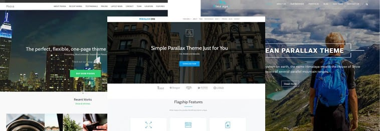 20+ Best Parallax Scrolling WordPress Themes 2020