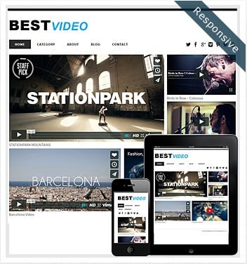 premium wordpress templates - best-video-theme