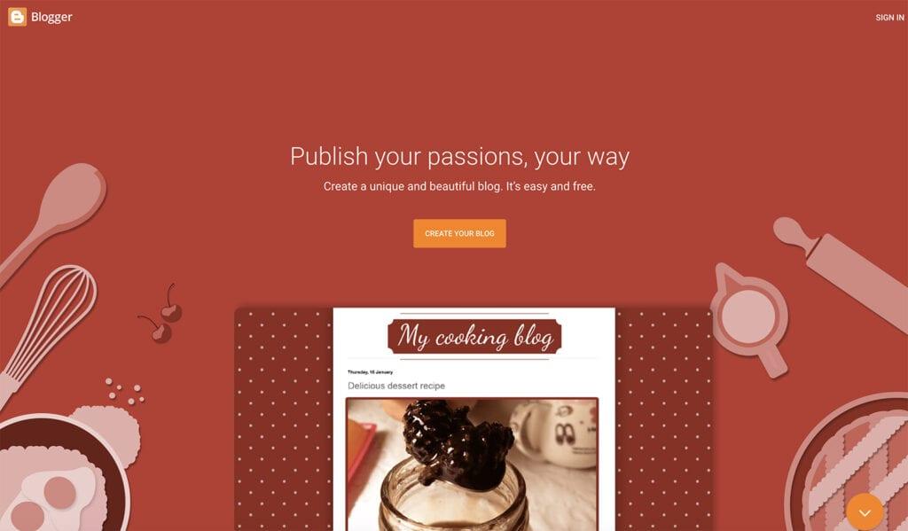 blogger free blogging provider