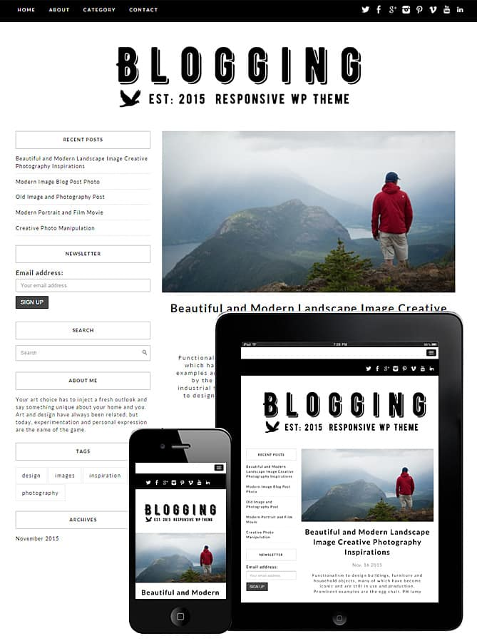 Blogging WordPress Theme - Best WordPress Themes for Creatives ...